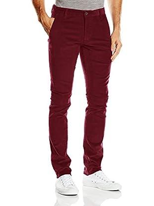 Dockers Pantalón Alpha Original Skinny (Rojo Oscuro)