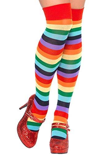 Smiffy's Men's Clown Socks, Multi, One Size - 1
