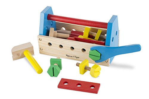 Melissa & Doug Take-Along Tool Kit Wooden Construction Toy (24 pcs) (Melissa Doug Tool Box compare prices)