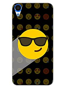 Whatsapp Emoji - Mr Swagger - Attitude And Swag - Black - Hard Back Case Cover for HTC Desire 820 - Superior Matte Finish - HD Printed Cases and Covers