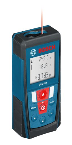 Bosch GLM 50 Laser Distance Measurer with 165-Feet Range and Backlit Display