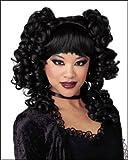 Black Gothic Curls Costume Wig