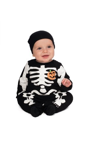 My First Halloween Black Skeleton Costume