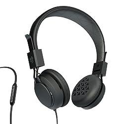JLab INTRO Premium On-Ear Headphones with Universal Mic (Black)