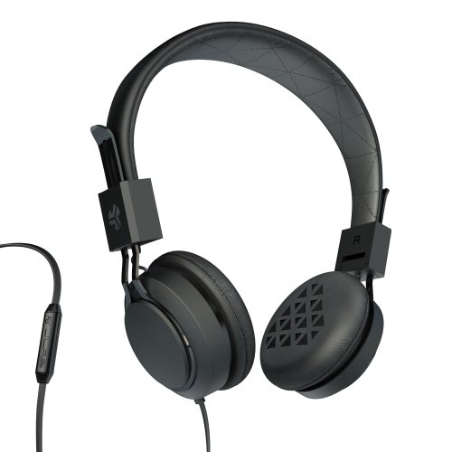 Jlab Intro Premium On-Ear Headphones, With Universal Mic (Black)