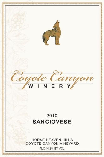 2010 Coyote Canyon Winery Horse Heaven Hills Estate Sangiovese 750 Ml