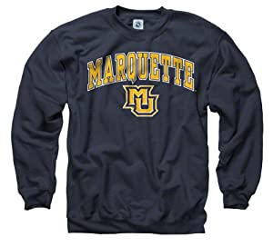 Marquette Golden Eagles Navy Perennial II Crewneck Sweatshirt