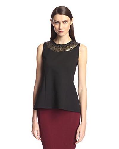 Society New York Women's Sleeveless Sequin Trim Top