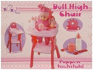 chaise haute jouet pour poupee biberon cuilliere et gobelet jeux et jouets. Black Bedroom Furniture Sets. Home Design Ideas