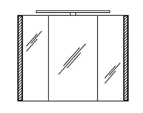 pelipal S26armadietto a specchio/Profilo LED luce/lampada/SPS 13/Comfort n/b: 90cm