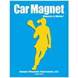 Lacrosse Female 2 Car Magnet Yellow