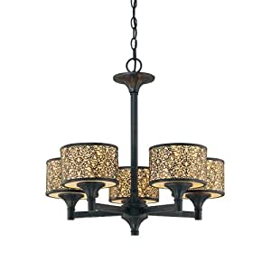 Eurofase 19119-014 Melosa 5-Light Chandelier, Bronze