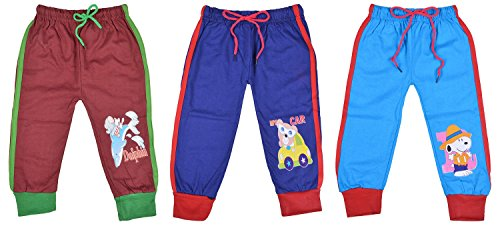 Kuchipoo Regular Fit Kids Lower Track Pants Assorted Pack of 3