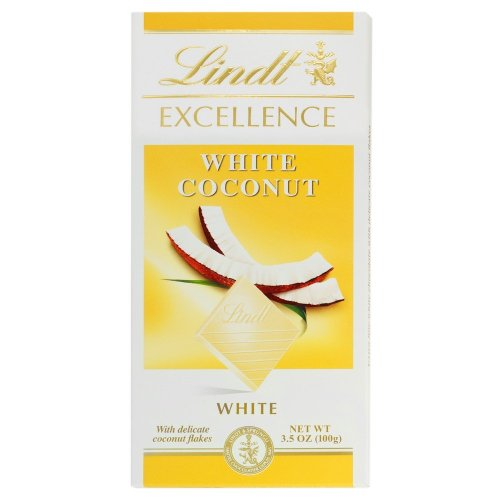 Lindt Excellence White Coconut White Chocolate, 3.5-Ounce Bars (Pack of 12)