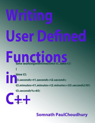 Writing Simple User Defined Functions in C++