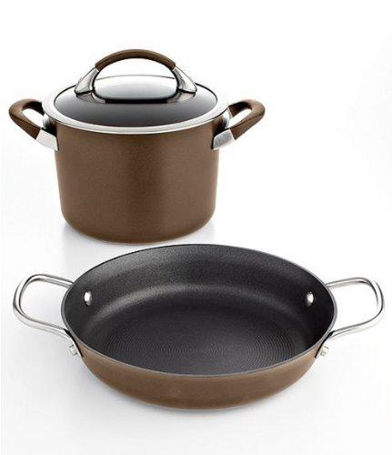 Best Deal Circulon Symmetry 3 Piece Chocolate Hard Anodized Aluminum Cookware Set Best Cookware Sets