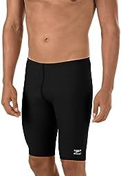 Speedo Men's Endurance+ Solid Jammer Swimsuit, Black, 36