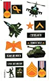 CAMOUFLAGE -16 Temporary Tattoos/ Party Favors, Military, Patriotic, Aircrplane