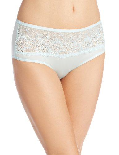 Bali Womens One Smooth U Comfort Indulgence Satin with Lace Hipster Panty