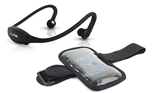 jlab go bluetooth headphones with sport armband black bundle with arm band top office shop. Black Bedroom Furniture Sets. Home Design Ideas