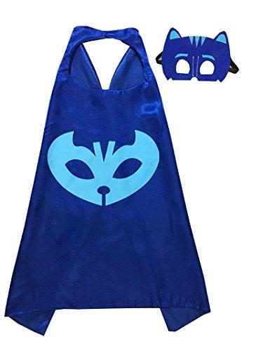 pj masks costumes for kids set of 3 catboy owlette gekko mask with cape 27 5 ebay. Black Bedroom Furniture Sets. Home Design Ideas