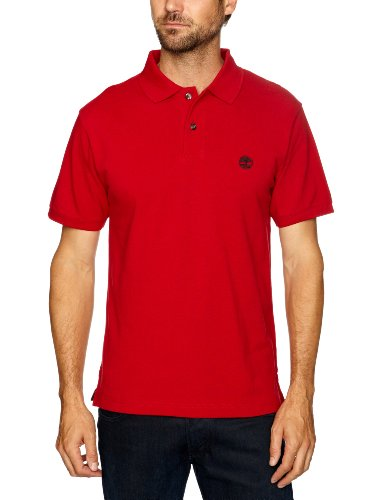 Timberland Pique Polo Men's T-Shirt Chilli Red Large