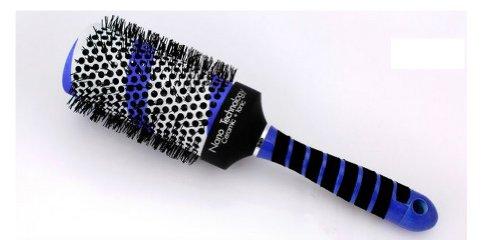 Boar Bristle Hair Brush Aluminum Barrel 45 Rows Of Bristle, Inner Barrel Diameter: 45Mm, Outer Barrel Diameter: 65Mm For 2 Pcs