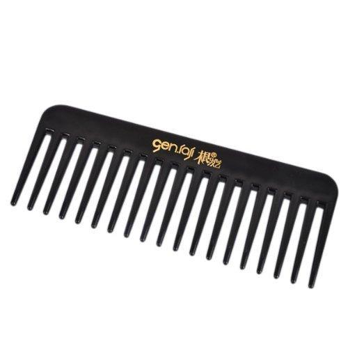 iDealhere 19 Dents Résistant Chaleur Statique et Résistant Cheveux Peigne Dent Large Noir
