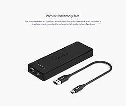 Tronsmart Presto 12000mAh USB C Portable Charger External Battery Pack Power Bank 6A Output