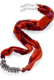 Coral Print Scarf Necklace [T06-6752C-S]