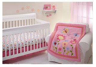 Little Bedding By Nojo Little Miss Ladybug 3Pc Crib Bedding Set