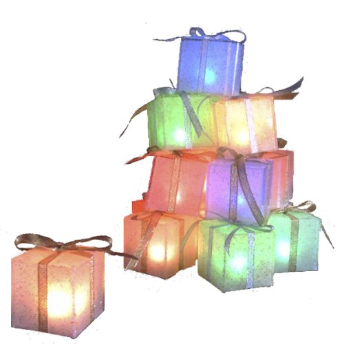 Mr. Light Set of 6 Color Changing LED Gift Box