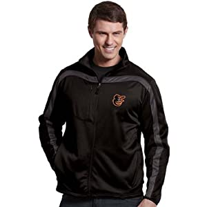 Baltimore Orioles Viper Full Zip Performance Jacket by Antigua