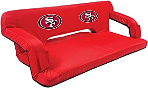 NFL San Francisco 49ers Reflex Portable Reclining Travel Couch from Picnic Time