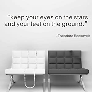 """…and your feet on the ground"" -Theodore Roosevelt"