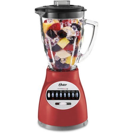Oster Blender 14 Speed with Glass Jar, Chop and Grind with Stainless Steel Blade (Red) (Juicer And Blender Combo compare prices)