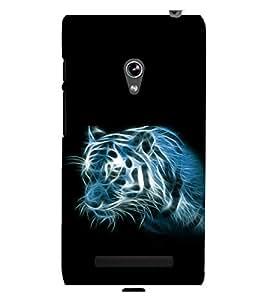 printtech Tiger Streaks Back Case Cover for Asus Zenfone 5::Asus Zenfone 5 A500CG