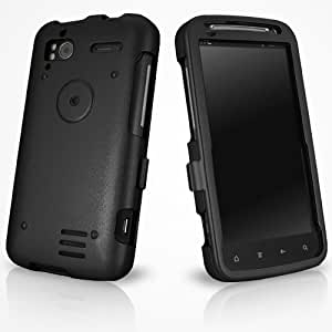 BoxWave HTC Sensation 4G AluArmor Jacket - Rugged Heavy Duty Anodized Aluminum Metal Case for Slim and Durable Protection - HTC Sensation 4G Cases and Covers (Jet Black)
