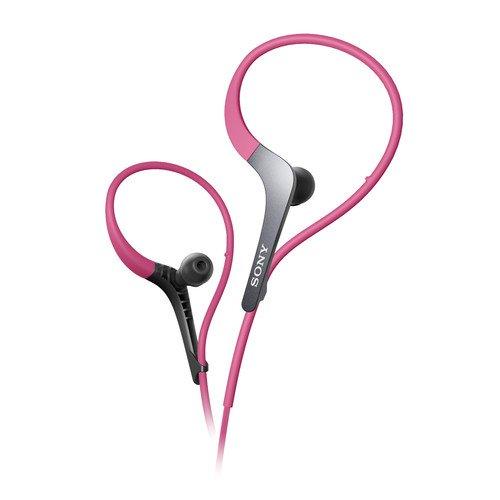 Sony Lightweight Water-Resistant Sweat-Proof Active Series Sport Headphones (Pink)