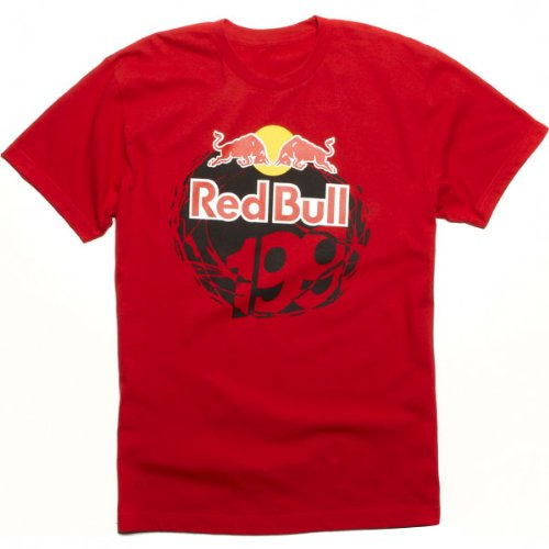 Fox Racing Red Bull/Travis Pastrana 199 Core Men's Short-Sleeve Sportswear T-Shirt/Tee - Red / Large