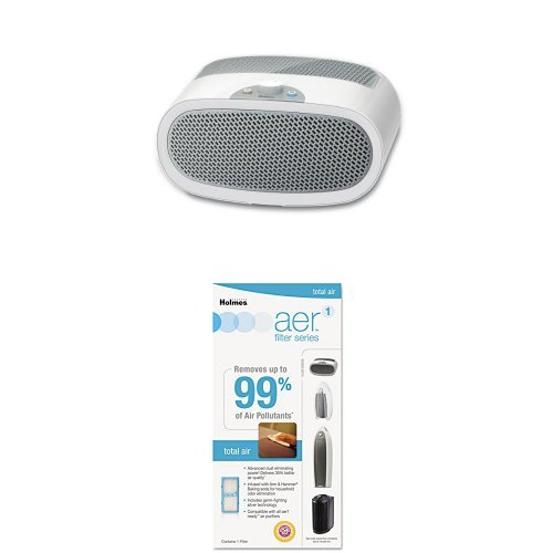 Click to open expanded view Holmes HEPA-Type Desktop Air Purifier with 3 Speeds and Quiet Operation plus Aer1 Total Air Filter via Amazon