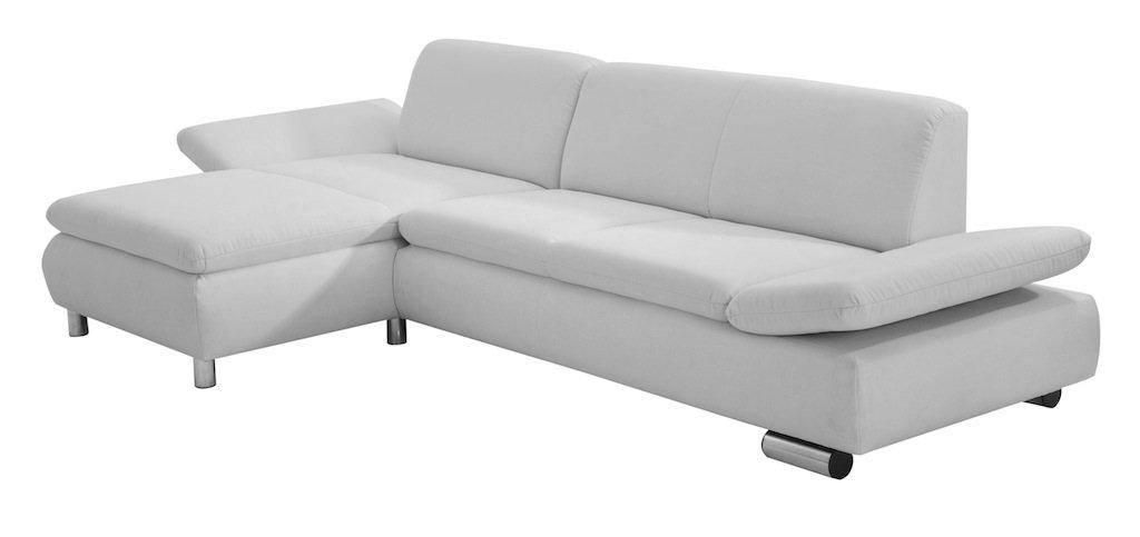 Max Winzer 2871-813-1643728 2,5-Sitzer Sofa, Longchair links Tournai, Strukturgewebe, silber