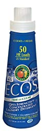 Earth Friendly Products 979906 ECOS 4X Concentrate Free and Clear Liquid Laundry Detergent, 25 oz Bottle (Case of 6)