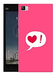 "Heart Means Love Printed Designer Mobile Back Cover For ""Xiaomi Redmi MI3"" By Humor Gang (3D, Matte Finish, Premium Quality, Protective Snap On Slim Hard Phone Case, Multi Color)"