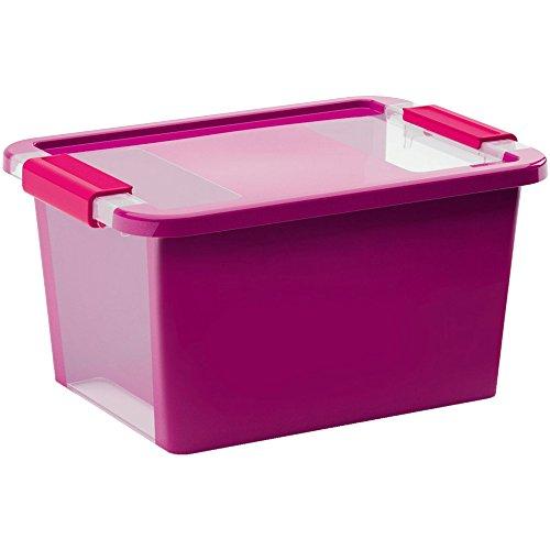 Kis 8452000 0129 01 Bi Box-Scatola portaoggetti in plastica, colore: viola/trasparente, 11 L