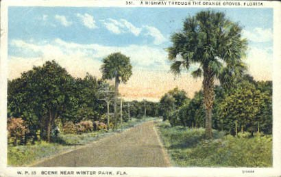 Winter Park, Florida Postcard