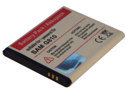 Batteria sostitutiva adatta per Samsung i5500, GT-i5500, 5 Galaxy, Galaxy 550