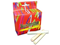 36 Pack Colored Chalk - Case of 96