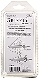 Allen Company Grizzly Three Blade Broadheads, 125 Grain