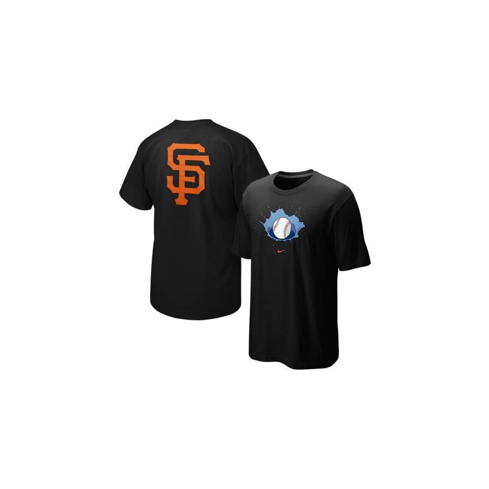 Nike San Francisco Giants Black Local T shirt (X Large)